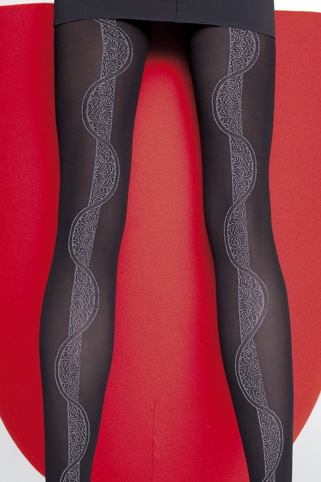 Fiore Hortensia Patterned Tights - Spike Angel - 3