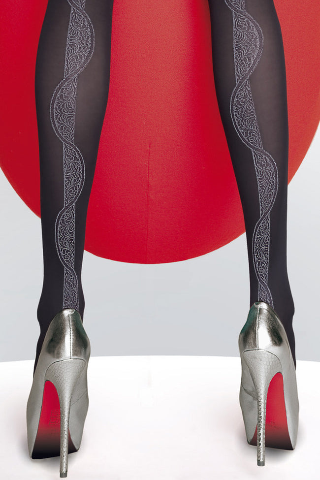 Fiore Hortensia Patterned Tights - Spike Angel - 4