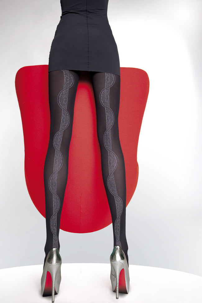 Fiore Hortensia Patterned Tights - Spike Angel - 1