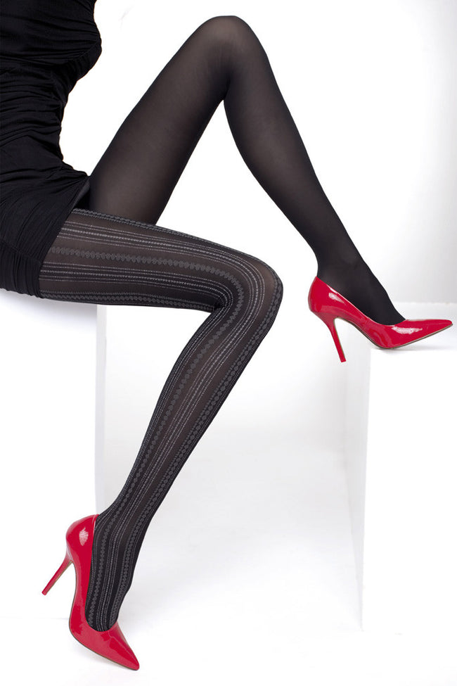 Fiore Savinia Patterned Tights - Spike Angel - 1