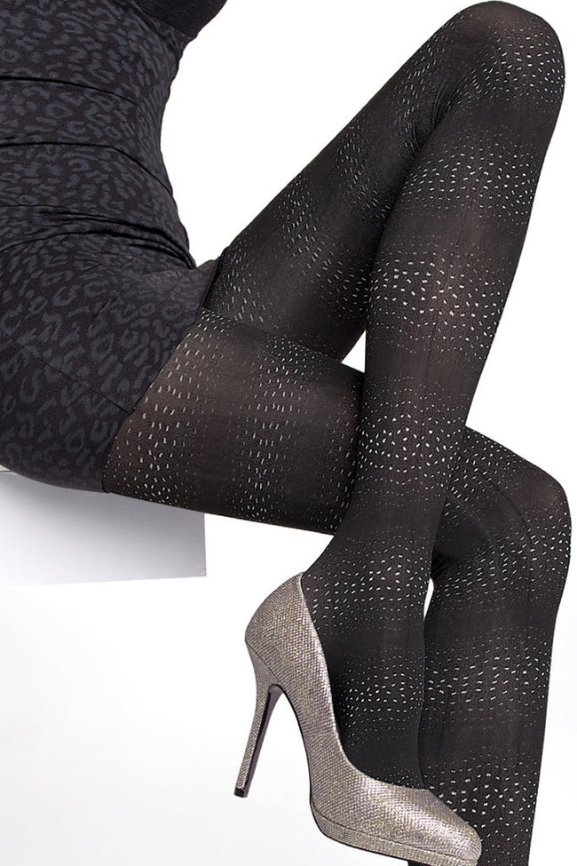 Fiore Sagari Patterned Tights - Spike Angel - 2