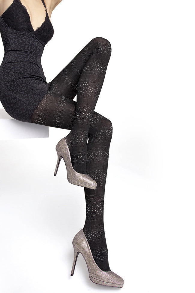 Fiore Sagari Patterned Tights - Spike Angel - 1