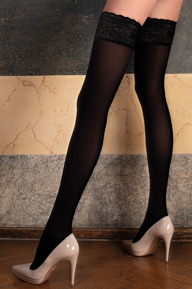 Ilaria 50 Den Opaque Thigh Highs