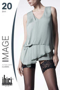 Ibici Image 20 Floral Lace Band Thigh High - Spike Angel - 1