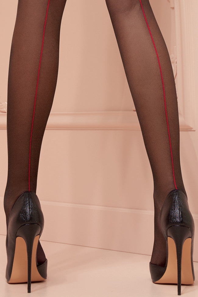 Jessy 20 Den Back Seamed Stockings