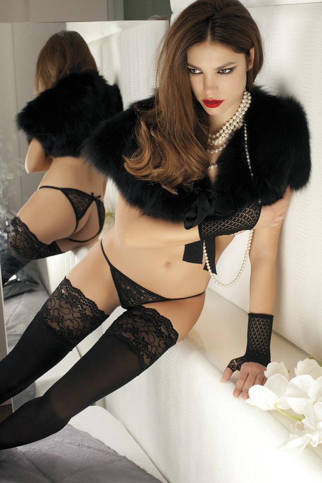 Trasparenze Lucrezia Lace Top Thigh Highs - Spike Angel - 2
