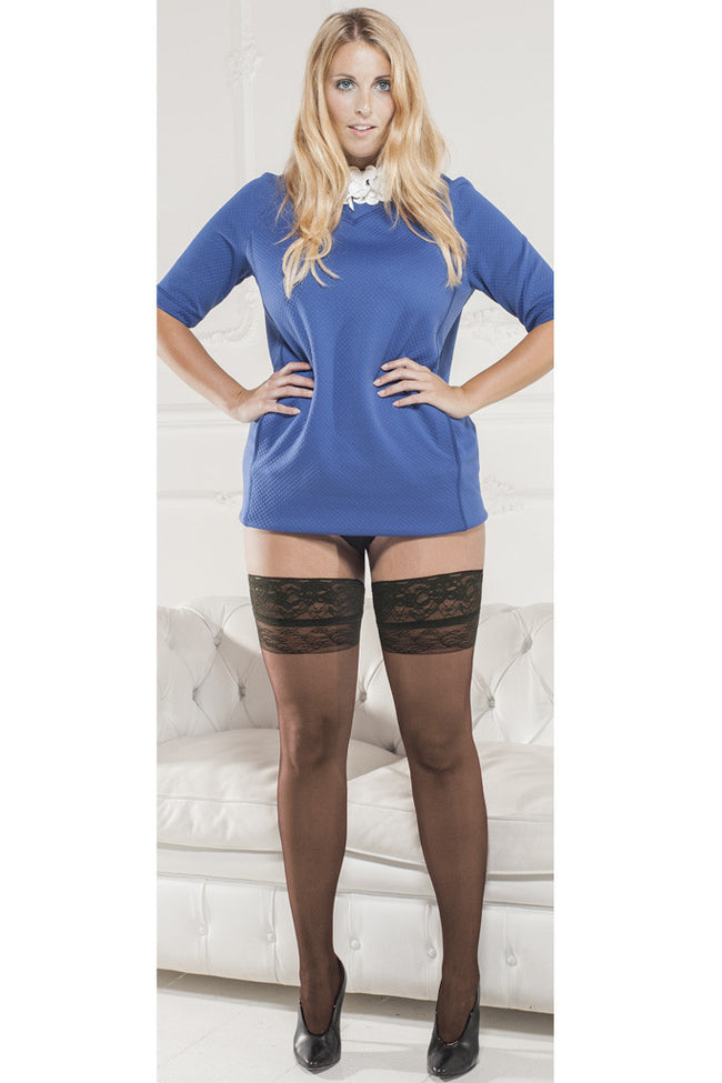 Trasparenze Margherita Plus Size Thigh Highs - Spike Angel - 2