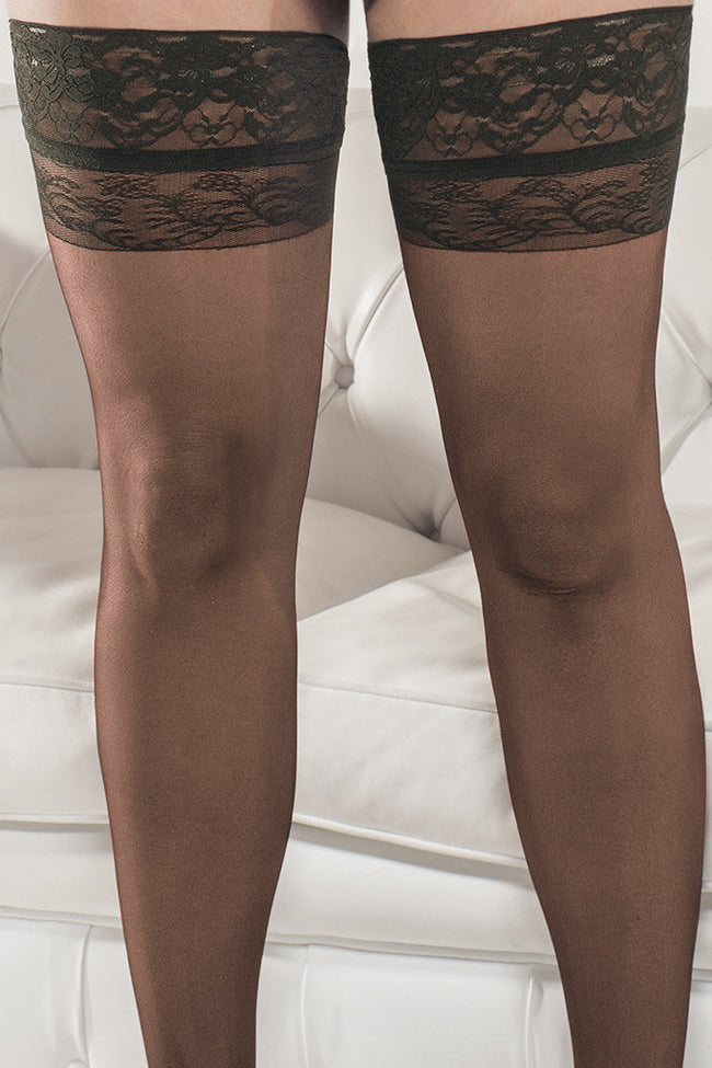 Trasparenze Margherita Plus Size Thigh Highs - Spike Angel - 3