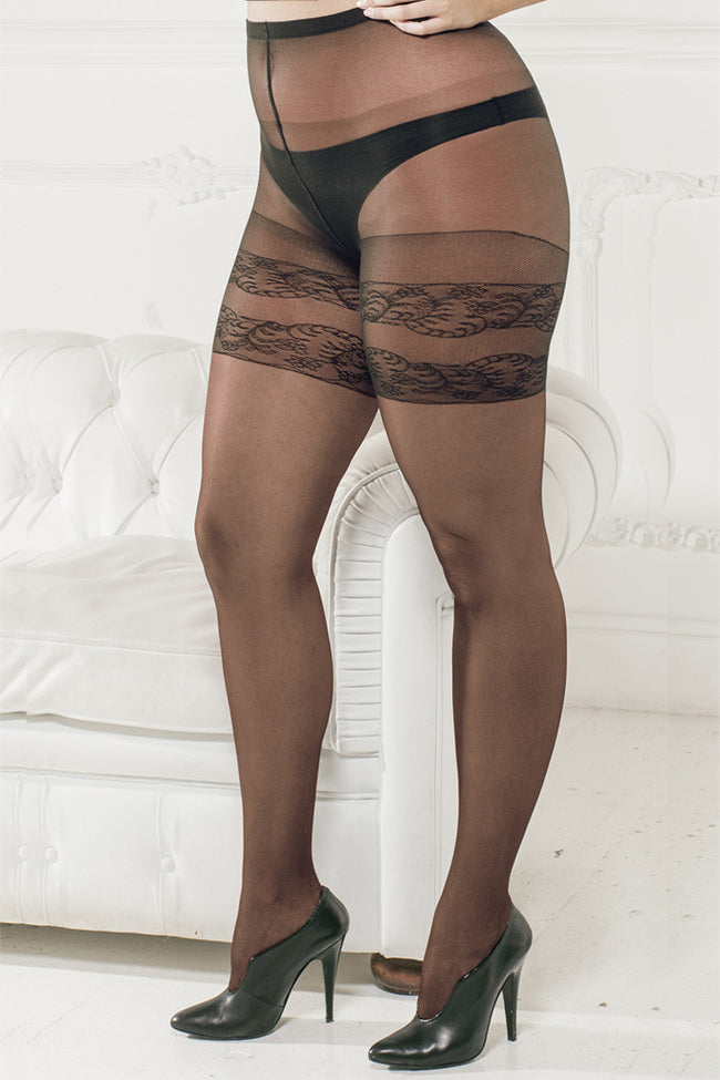 Trasparenze Margherita Plus Size Pantyhose - Spike Angel - 1