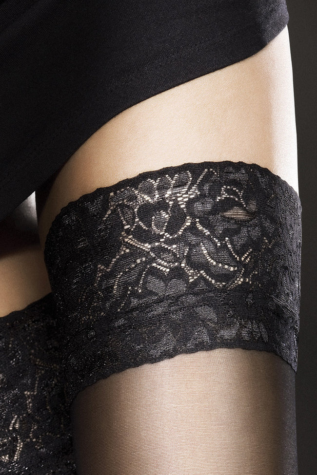 Fiore Milena Lace Top Thigh Highs - Spike Angel - 3