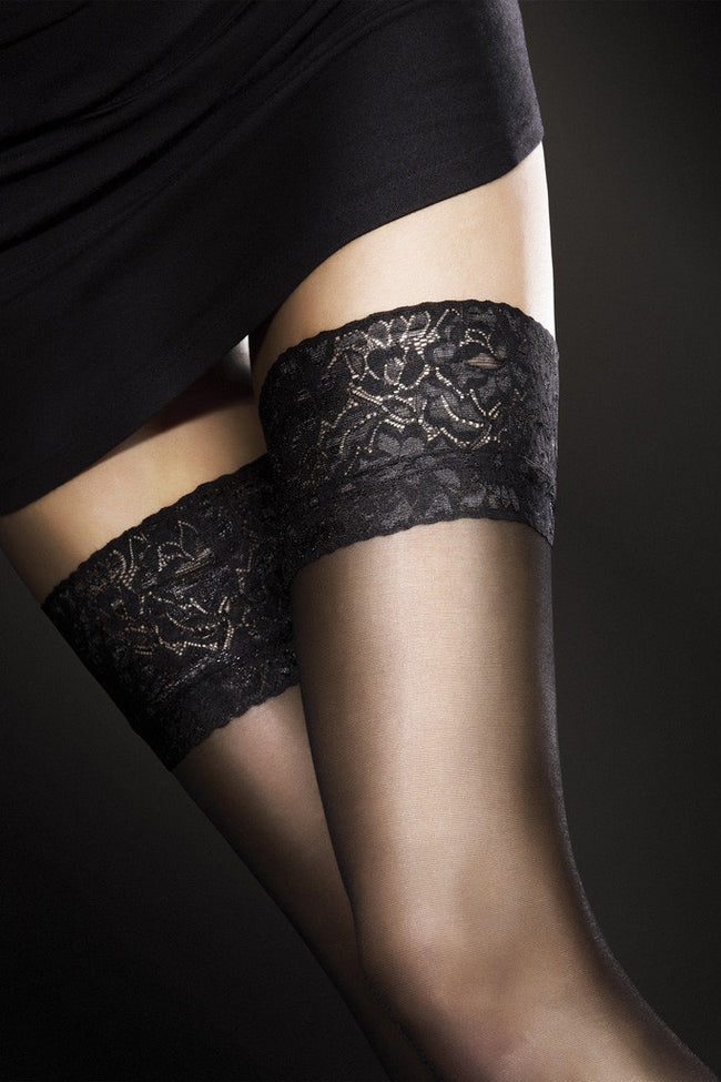 Fiore Milena Lace Top Thigh Highs - Spike Angel - 1