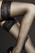 Fiore Liza Fishnet Thigh Highs - Spike Angel - 2