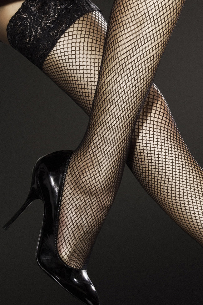 Fiore Liza Fishnet Thigh Highs - Spike Angel - 3