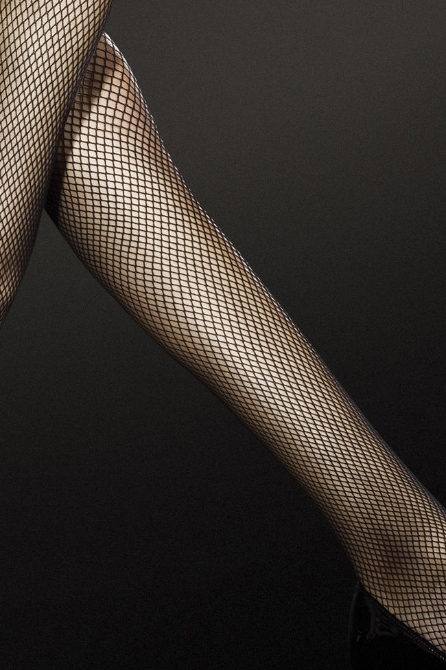 Fiore Liza Fishnet Thigh Highs - Spike Angel - 4