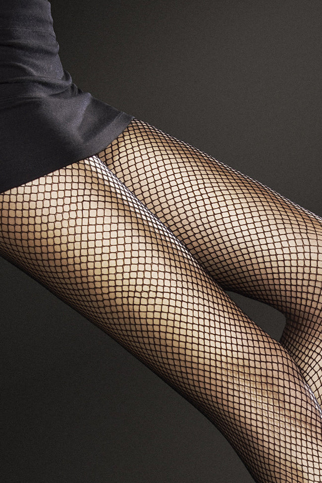 Fiore Greta Fishnet Pantyhose - Spike Angel - 2