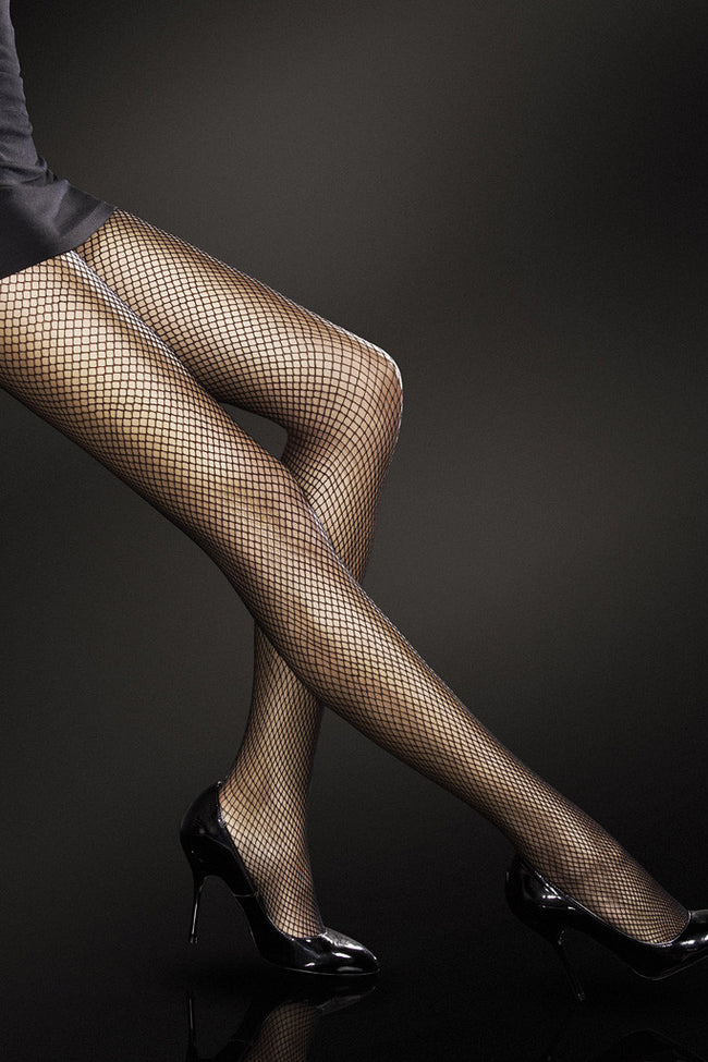 Fiore Greta Fishnet Pantyhose - Spike Angel - 1