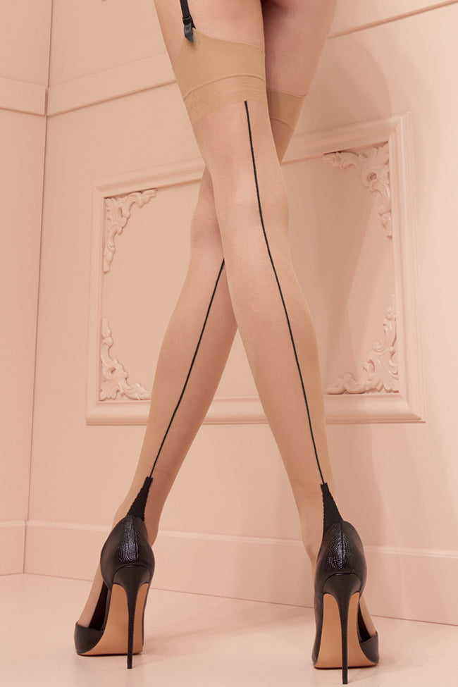 Pennac 20 Den Back Seamed Stockings