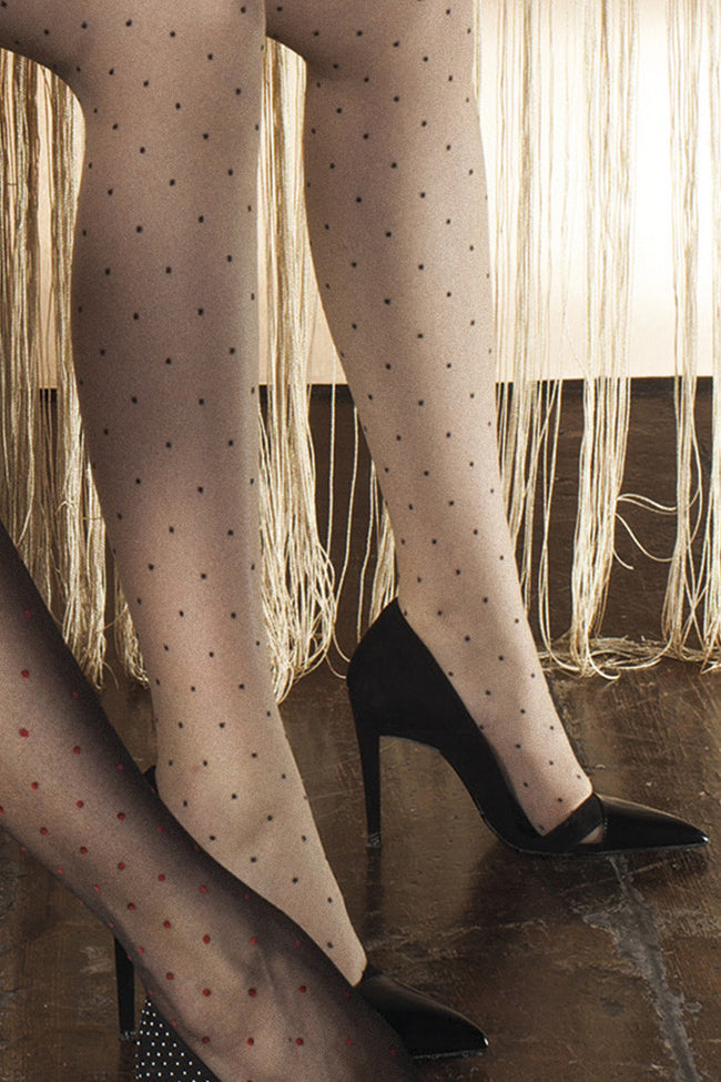 Trasparenze Rame Polka Dot Stockings - Spike Angel - 5
