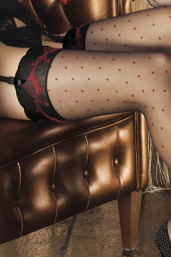 Trasparenze Rame Polka Dot Stockings - Spike Angel - 6