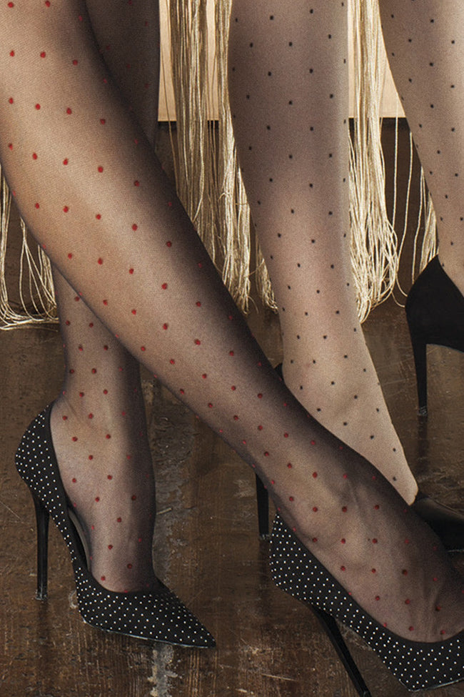 Trasparenze Rame Polka Dot Stockings - Spike Angel - 8