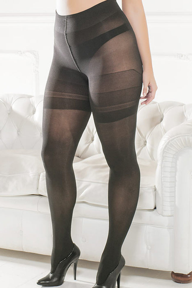 Trasparenze Sibilla Plus Size Tights - Spike Angel - 1