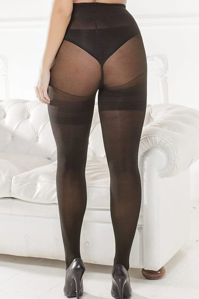 Trasparenze Sibilla Plus Size Tights - Spike Angel - 2