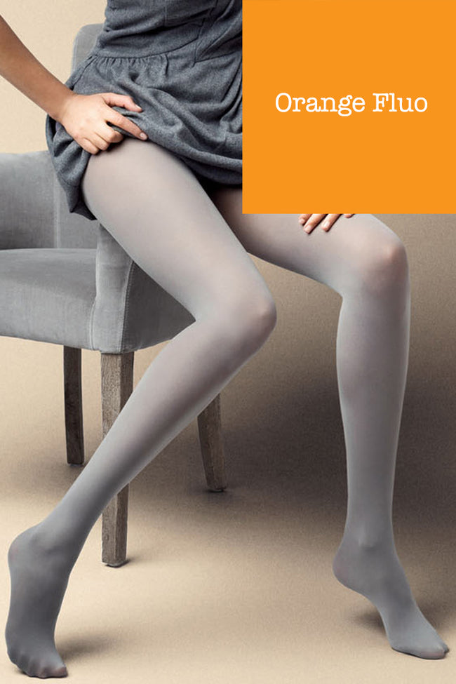 Satin 40 Den Opaque Microfiber Tights in 12 Colors
