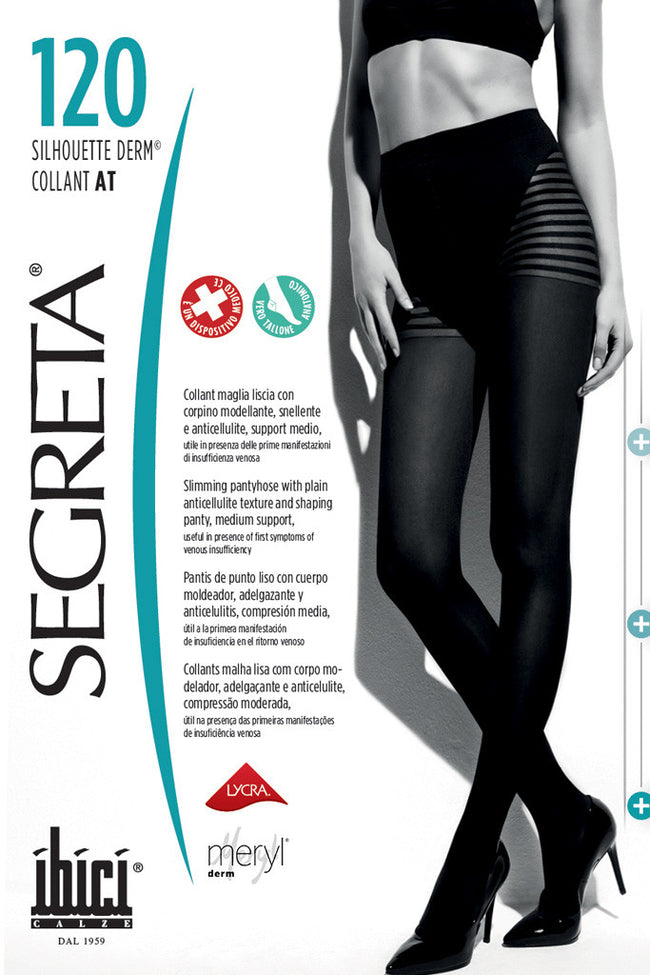 Segreta Silhouette 120 Derm Support Pantyhose - Spike Angel - 1