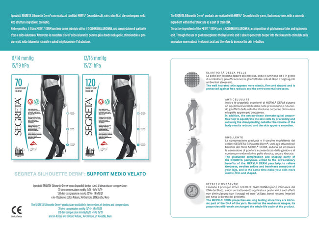 Segreta Silhouette 120 Derm Support Pantyhose - Spike Angel - 5