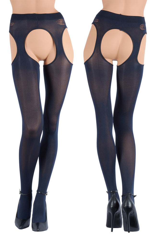 Cortina 100 Den Strip Panty Suspender Tights