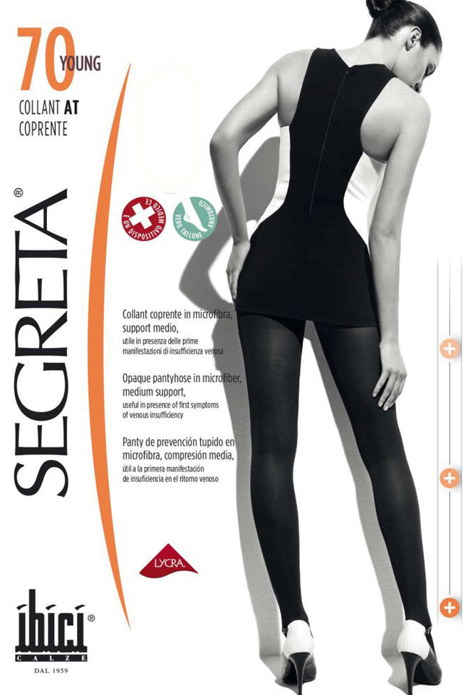 Segreta Young Coprente 70 Sheer to Waist Support Pantyhose - Spike Angel - 1