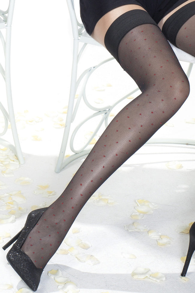 Trasparenze Caipirinha Polka Dot Thigh High - Spike Angel - 8