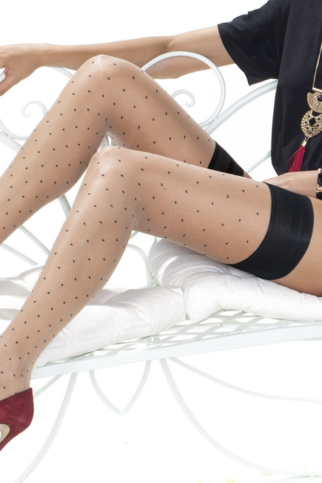 Trasparenze Caipirinha Polka Dot Thigh High - Spike Angel - 6