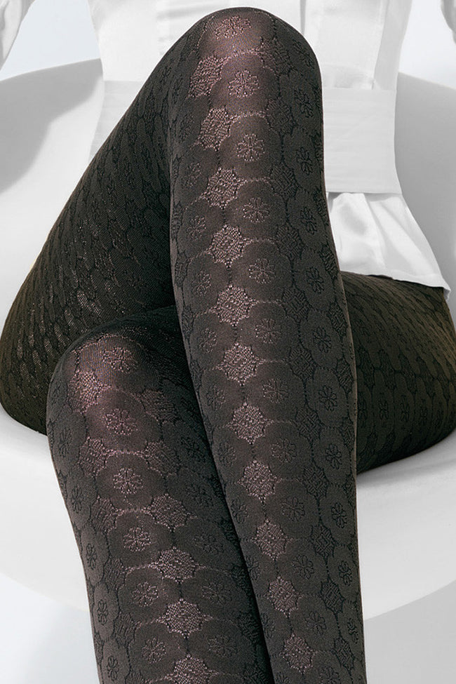 Trasparenze Damasco Patterned Tights - Spike Angel - 2