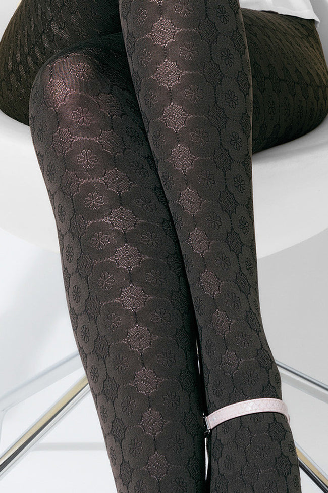 Trasparenze Damasco Patterned Tights - Spike Angel - 3