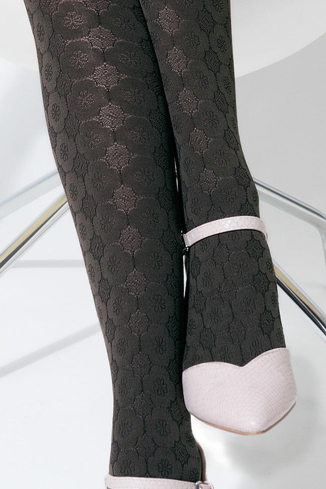 Trasparenze Damasco Patterned Tights - Spike Angel - 4