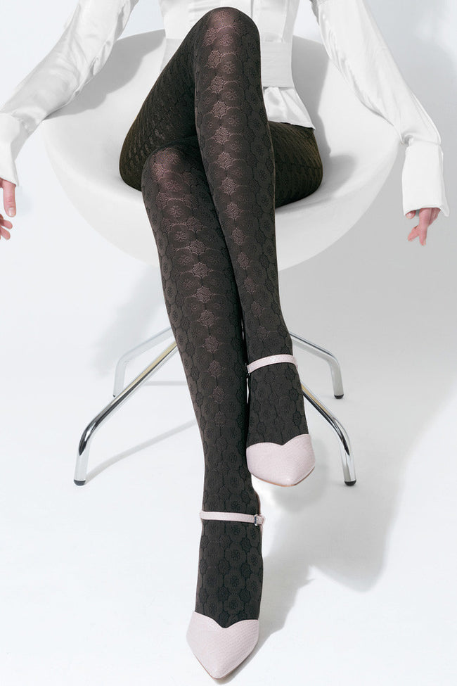 Trasparenze Damasco Patterned Tights - Spike Angel - 6