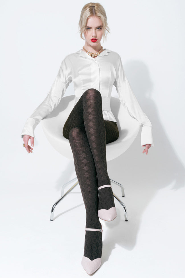 Trasparenze Damasco Patterned Tights - Spike Angel - 1