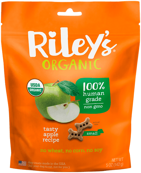 Apple Small Bone Organic Dog Treats - Riley's Organics