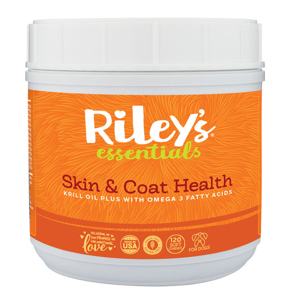 Riley's Essentials - Skin & Coat Health - 120 Count - Riley's Organics