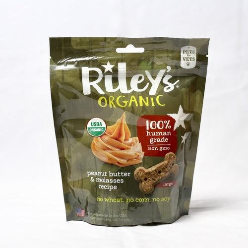 Riley's Organic - Pets for Vets - Peanut Butter and Molasses Dog Treats - Riley's Organics