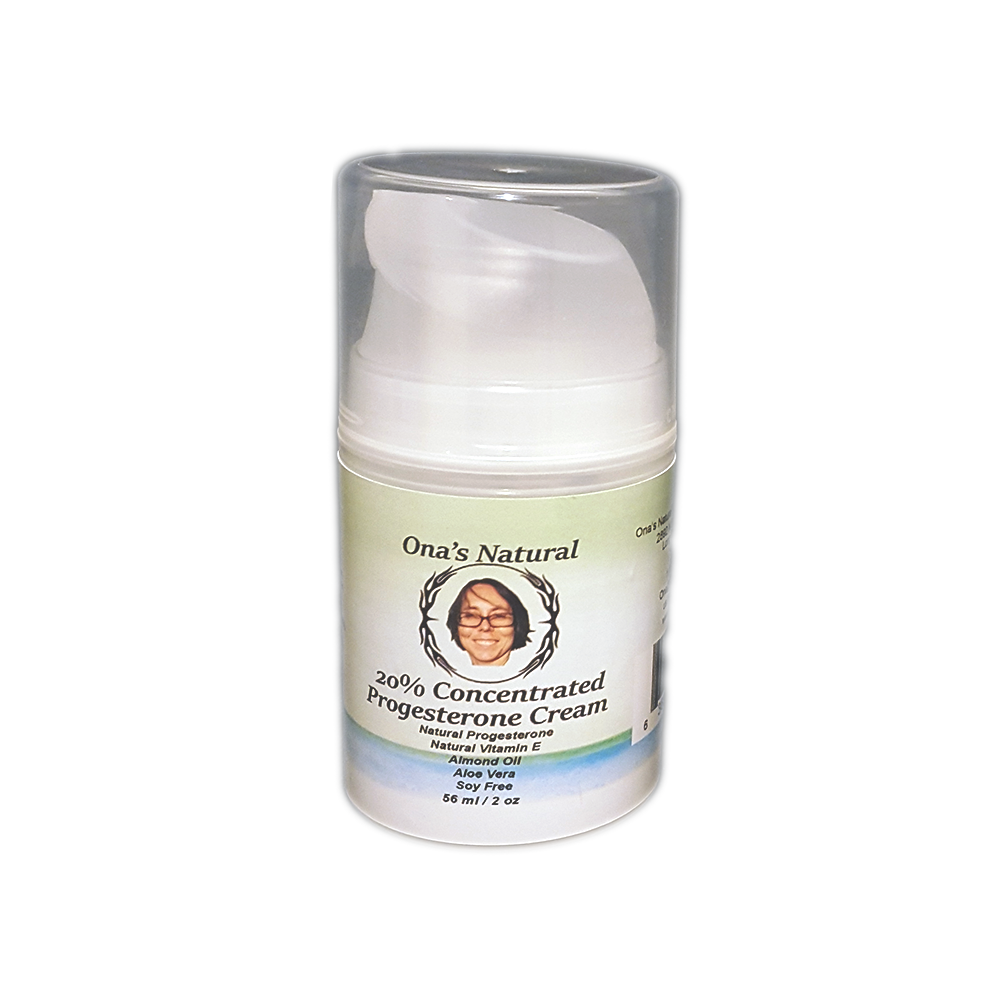 20% Progesterone Cream 2 oz Pump - Almond Oil Based