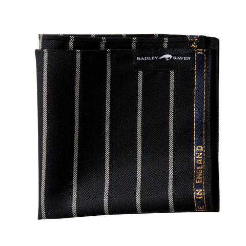 Oxford Black Pocket Square