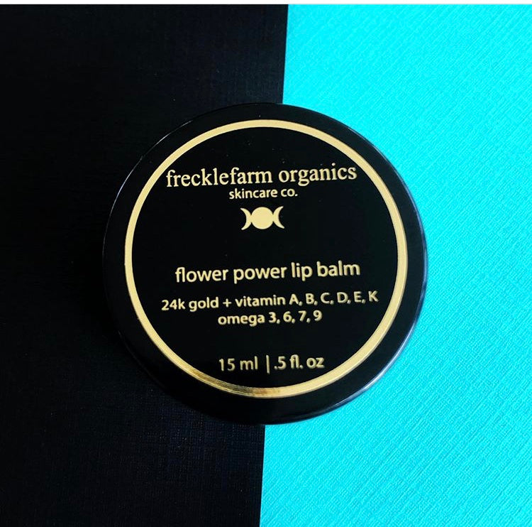 flower power lip balm - 24k gold infused