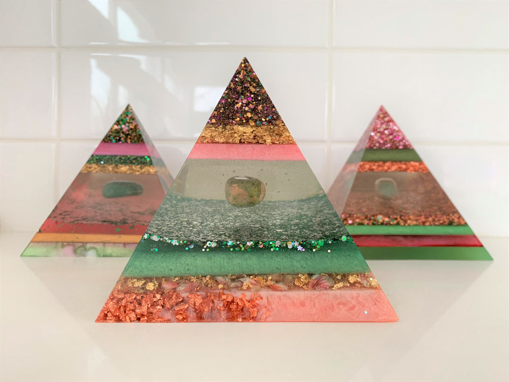 heart charka crystal unified field energy pyramid