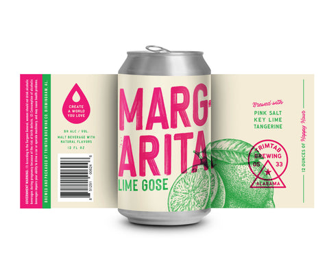 Margarita Lime Gose (Online beer purchases available to Cellar Patron Members ONLY)