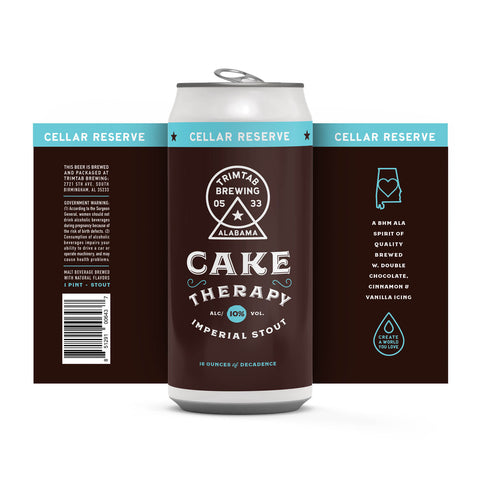 Cellar Reserve - CAKE THERAPY- Imperial Stout (Online beer purchases available to Cellar Patrons only)