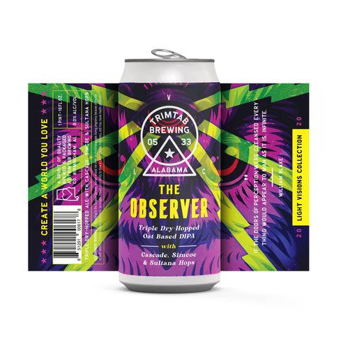 Light Visions Collection THE OBSERVER (Online beer purchases available to Cellar Patron members only)**Available for pickups THURSDAY AUGUST 13th at 12:00pm**