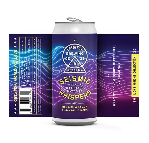 Light Visions Collection - SEISMIC WHISPERS (Online beer purchases available to Cellar Patron members only)**Available for pickups THURSDAY JULY 2ND at 12:00pm**