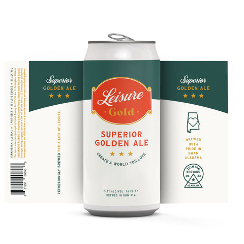 LEISURE GOLD - Golden Ale - (Online beer purchases available to Cellar Patron members only)